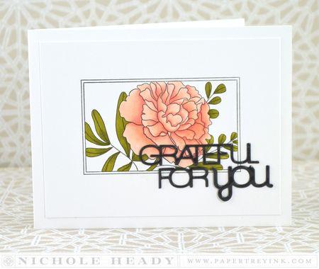 Grateful Peony Card