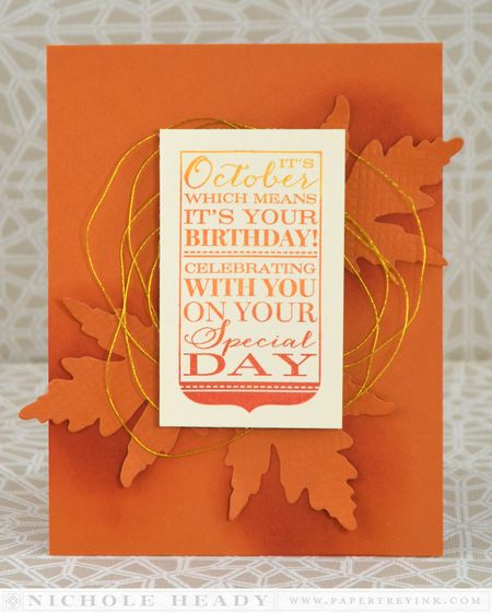 October Ombre Card