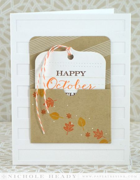October Tag Card