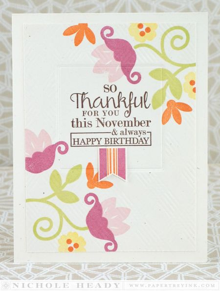 Floral November Birthday Card
