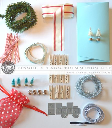Tinsel & Tags Trimmings Kit