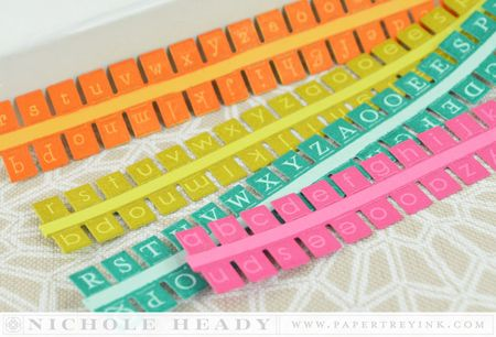 Cardstock letters