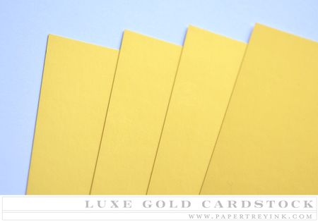 Luxe Gold Cardstock
