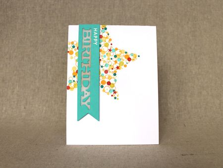 Confetti Cluster Birthday Card