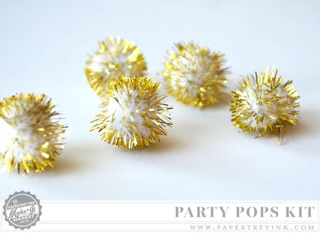 Gold pompoms