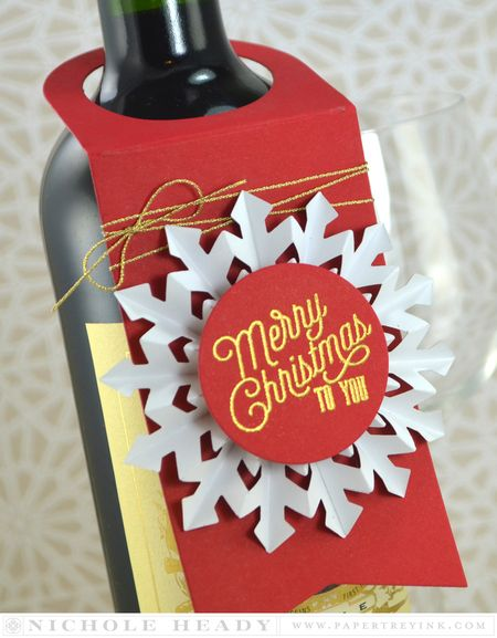 Merry Christmas Wine Tag