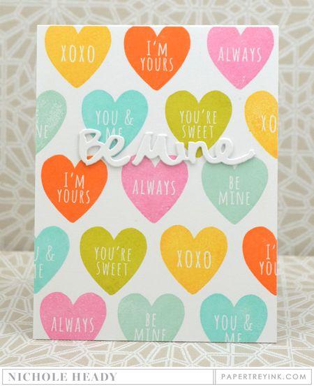 Conversation Hearts Card