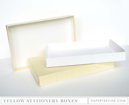 Yellow Stationery Boxes
