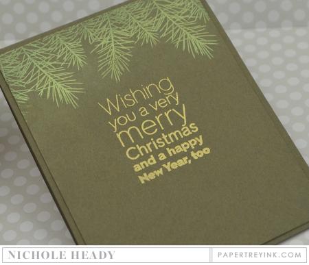 Christmas Pine Card