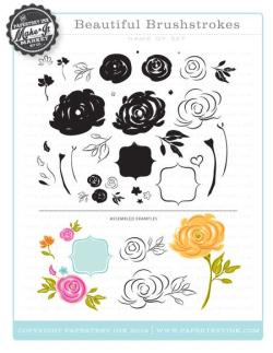 Beautiful Brustrokes stamps