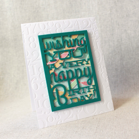 10th Anniversary - Text Block Birthday Card