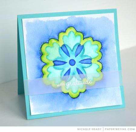 Watercolor mandala card