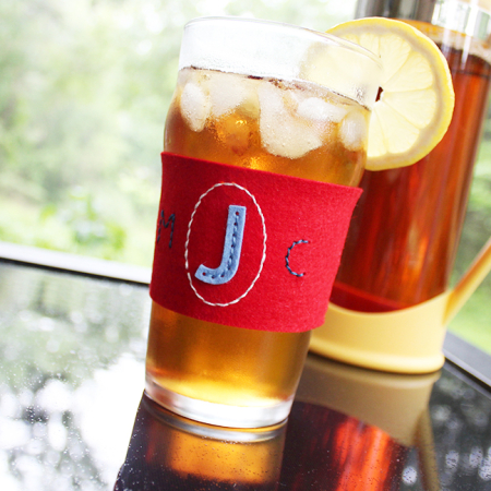 Monogrammed Glass Cozy 3