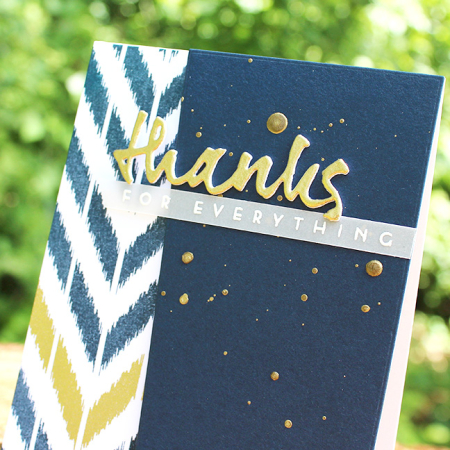 Ikat Thanks For Everything Card 2