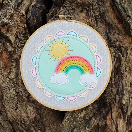 Sunshine & Rainbows Hoop