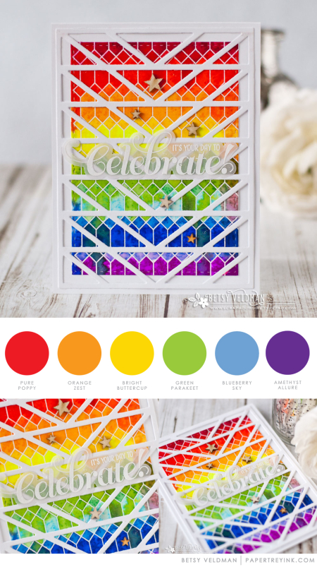 Rainbow-Celebrate by Betsy Veldman for Papertrey Ink