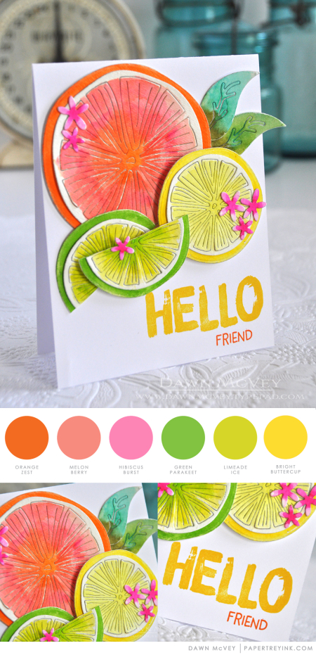 Summer Hello by Dawn McVey for Papertrey Ink