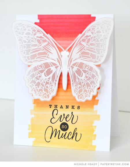 Vellum Butterfly Card