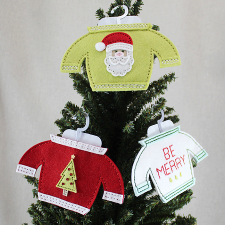 Christmas Sweater Gift Card Holders