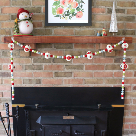 Stitched Ornament Garland