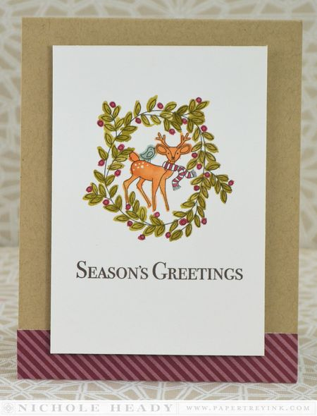 Watercolor Deer Card