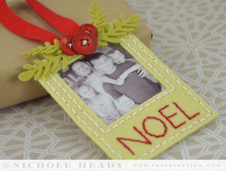 Stitched Photo Ornament