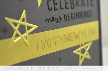 New year embossing
