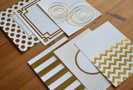 Gold foil designs