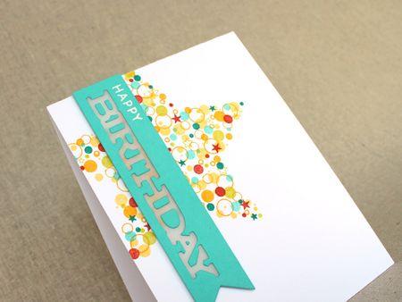 Confetti Cluster Birthday Card Close Up