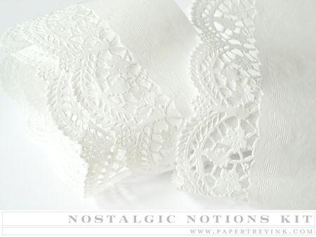 Paper lace trim