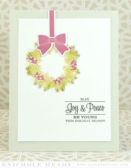 Joy & Peace Wreath Card