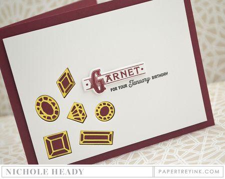 Garnet Birthday Card