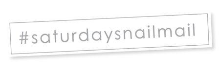 Saturday-snail-mail
