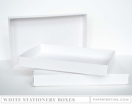 White Stationery Boxes