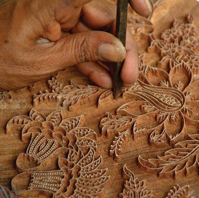 Anokhi 6 carving woodblock