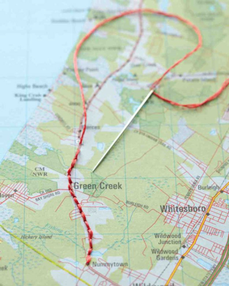 Cool-Scrapbook-Ideas-You-Should-Make-Embroidered-Map