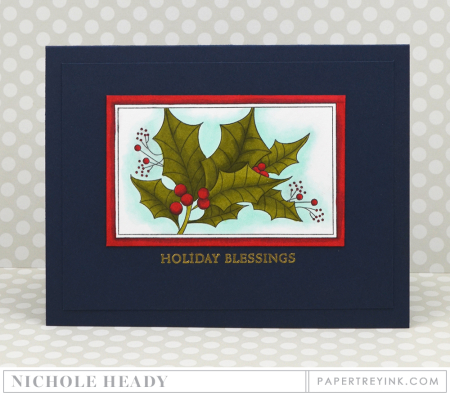 Holly Blessings Card
