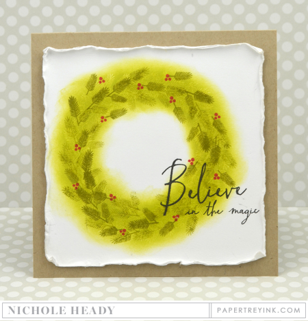 Believe Wreath Card