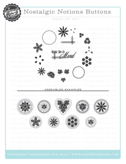Nostalgic Notions Buttons stamps