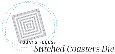 Stitched Coasters Die Graphic