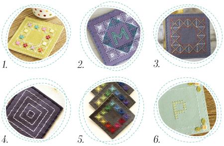 Stitched Coaster Round Up