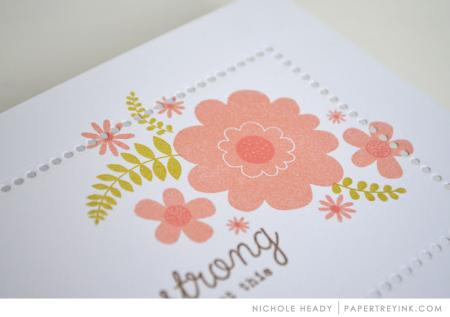 Floral sprig closeup