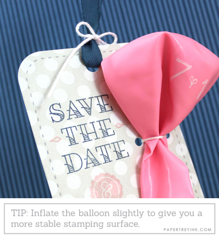 Save The Date Balloon Tag Close Up