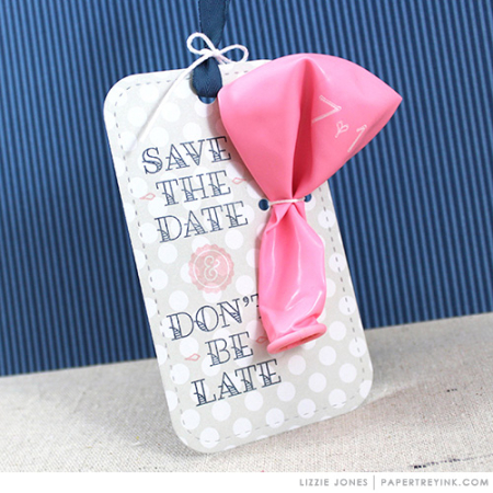 Save The Date Balloon Tag