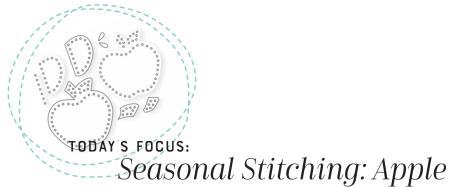 Seasonal Stitching Apple Graphic