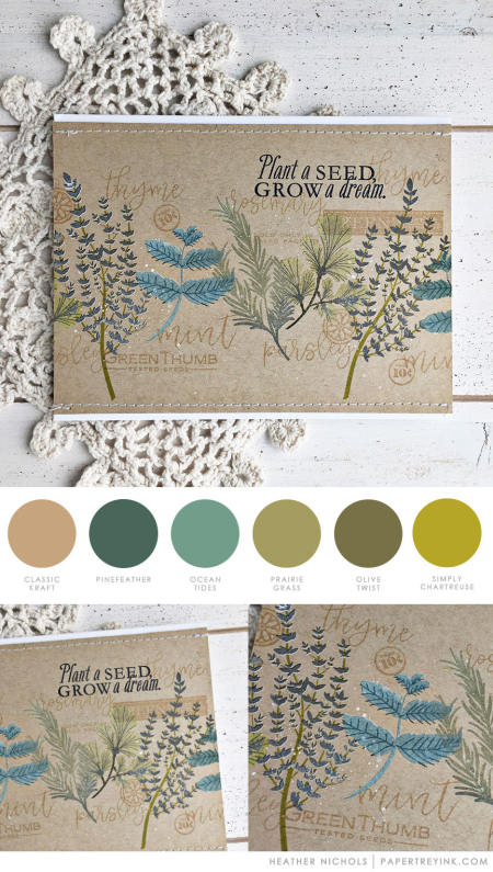 Herb Mix by Heather Nichols for Papertrey Ink