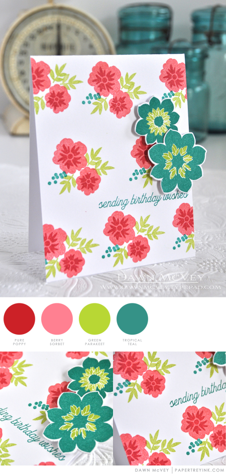 Floral Birthday Wishes by Dawn McVey for Papertrey Ink