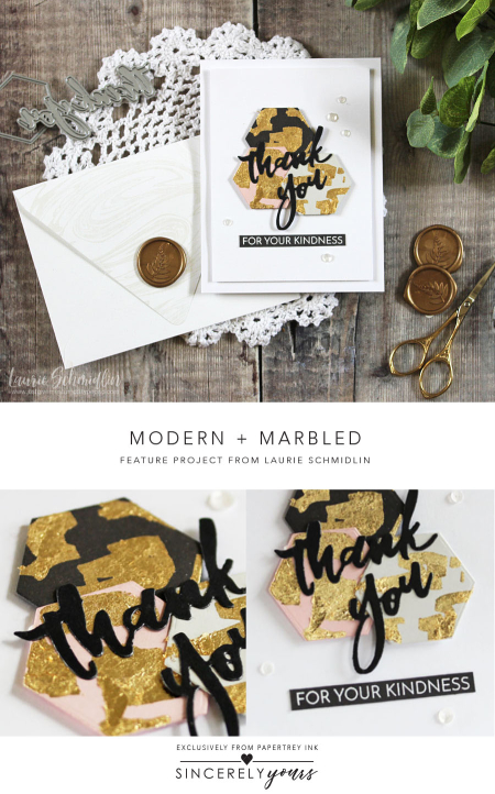 Modern + Marbled by Laurie Schmidlin for Papertrey Ink