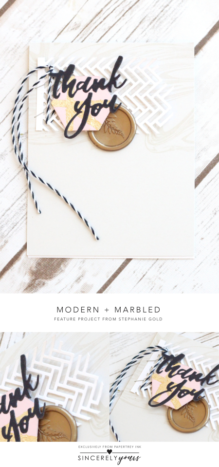Modern + Marbled by Stephanie Gold for Papertrey Ink