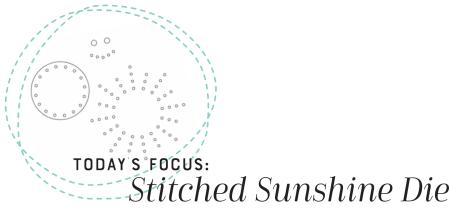 Stitched Sunshine Die Title